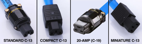 MusicCord 90-degree Left & Right C-13 Optional Connectors