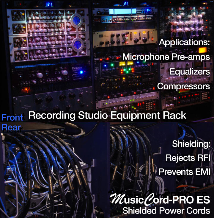 Bamboo Room Recording Studio Uses MusicCord-PRO ES Power Cords on Mic Pre-amps, Equalizers, Compressors