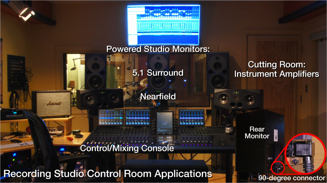 Recording Studio Control Room Power Cord Applications - Essential Sound Products