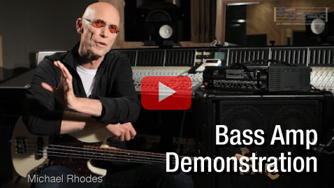 MusicCord Power Cord Demonstration Audio Video With Bass Amplifier MusicCord Demo