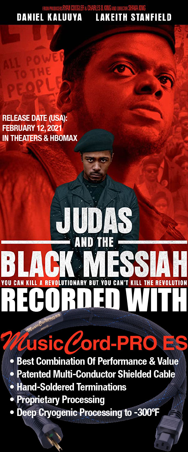 Judas And The Black Messiah Recorded With MusicCord-PRO ES Power Cords