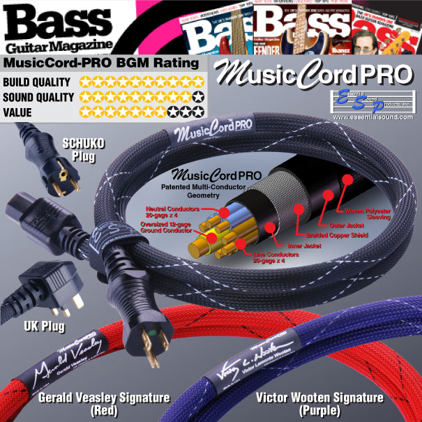 MusicCord-PRO Highly Rated By Bass Guitar Magazine - Essential Sound Products