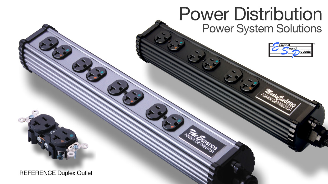 Power Distribution Components and Accessories | Essential Sound Products