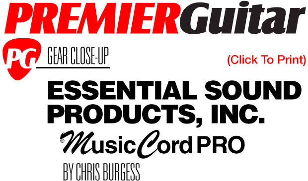 MusicCord PRO Guitar Amp Power Cord Review Premier Guitar Magazine - Essential Sound Products