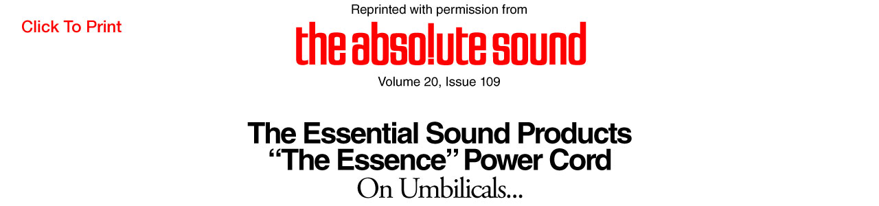 The Essence Audiophile Power Cord & Power Distributor Review The Absolute Sound Magazine - Essential Sound Products